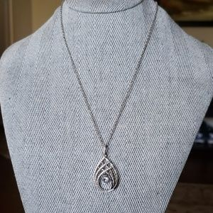 Sterling silver Necklace with CZ pendant